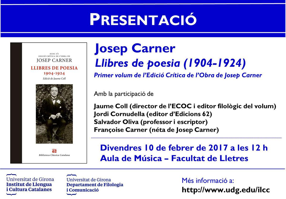 Presentació Josep Carner